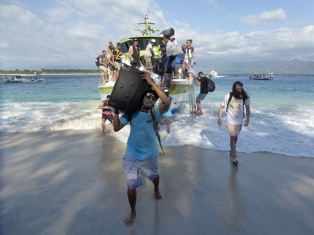 Bild: Ankunft auf der Insel