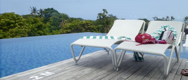 Bild: Unser Pool im Arthotel in Sanur