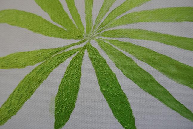peinture des feuilles toile perroquet : univers emylila