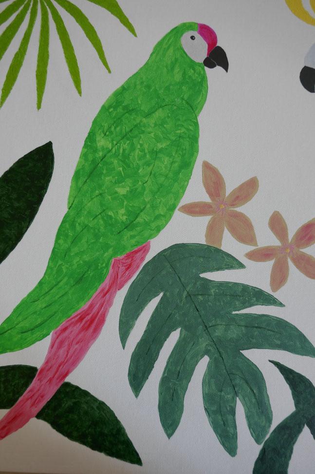 Perroquet vert : univert emylila