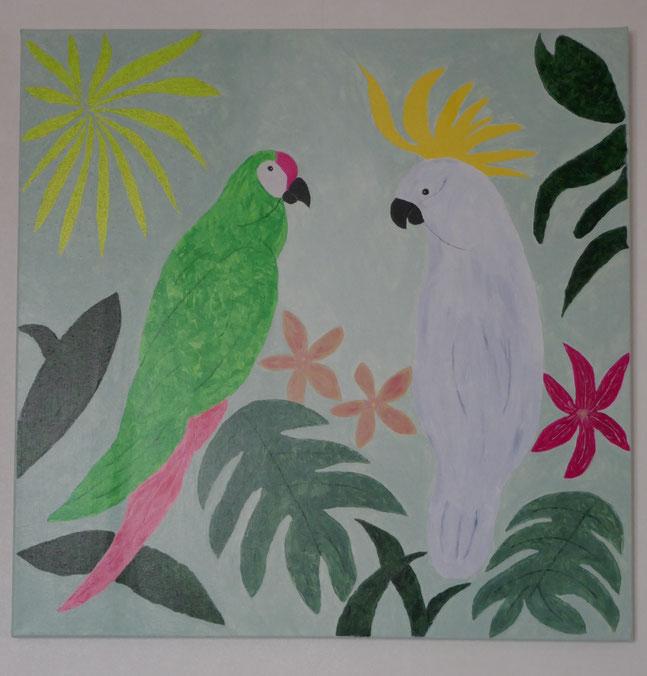 tableau oiseaux exotiques : univers emylila
