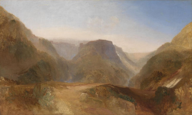 "Joseph Mallord William Turner, ""Italian landscape"" (1828)"