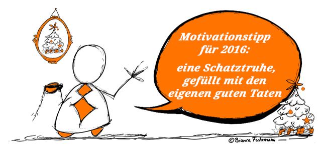 Motivationstipps für 2016: eine Schatztruhe, gefüllt mit den eigenen guten Taten. (c) Bianca Fuhrmann, www.bianca-fuhrmann.de