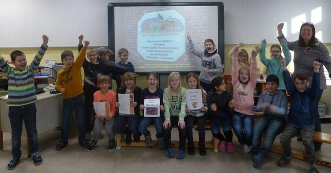 Die Gewinnerklasse der Grundschule am Wiesengrund. Foto: GS am Wiesengrund