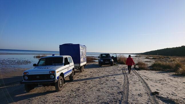 Zusammenarbeit des NABU Insel Usedom und dem THW Ortsverband Wolgast (Foto: THW Wolgast/Carsten Freitag)