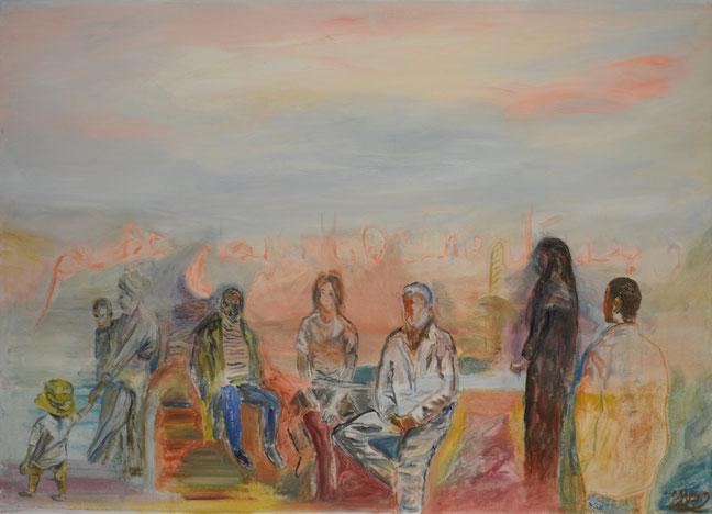 """Change II"", 2017, 150 cm by 100 cm, Oil on Canvas."