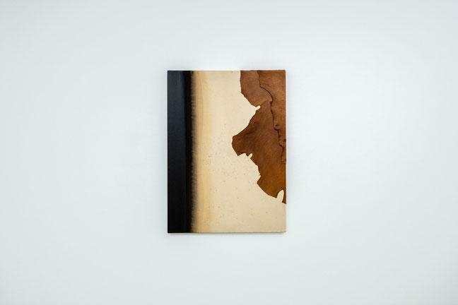 無題,  綿布・皮,  73×53cm,  1995 年