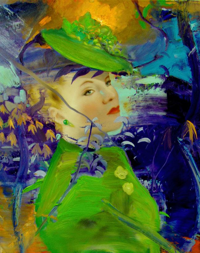 Pr 5  La femme au chapeau / 65 x 54 cm
