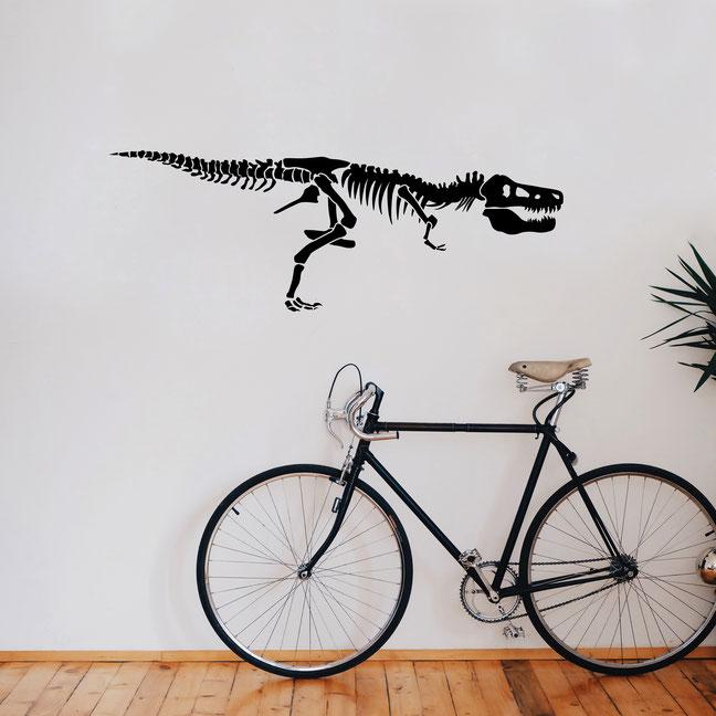 Dinosaur Tyrannosaurus Rex Skeleton wall art sticker