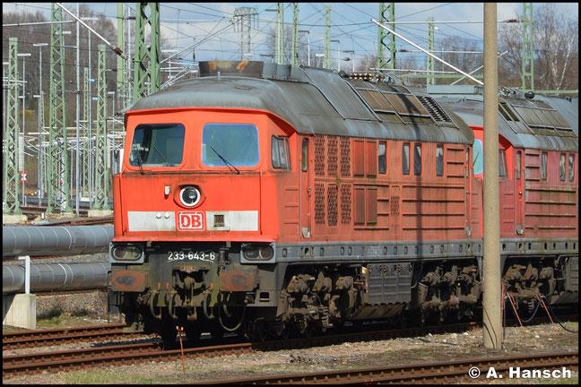 233 643-6 war im SSM Chemnitz z-gestellt. Am 22. März 2020 steht die Lok zum Abtransport gen Polen bereit
