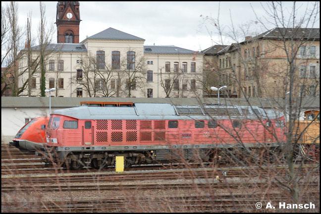 """Ein Notschuss auf 233 696-4 """"gelang"""" am 29. Januar 2018 in Leipzig-Süd. Die Lok gehört der LEG und ist derzeit abgestellt"""