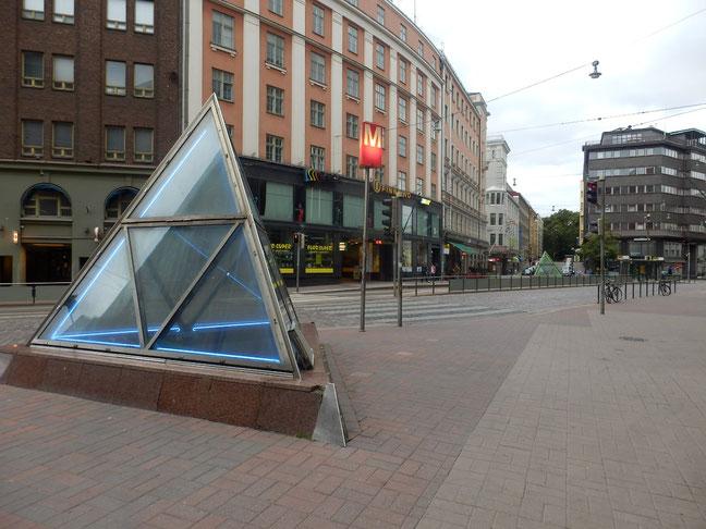 ここにもあった、helsinki Kaisaniemi のトラム駅