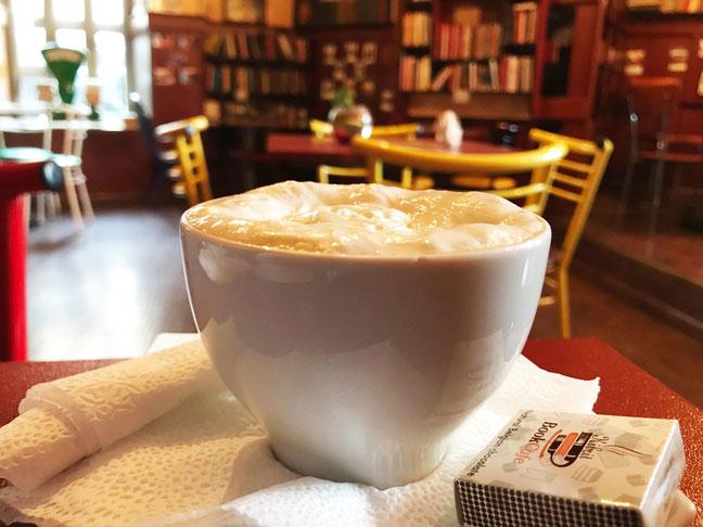 Book Café in the town center