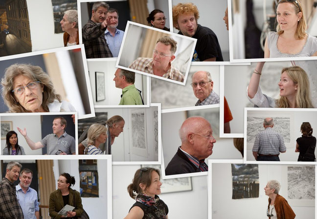 Personen an der Vernissage