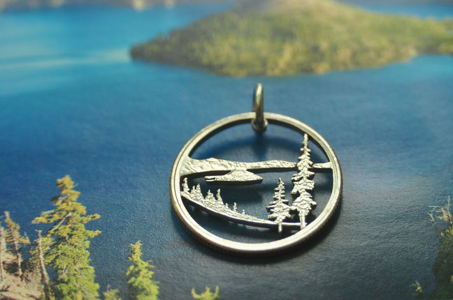 Münzsägewerk Katrin Thull | USA - Oregon Crater Lake