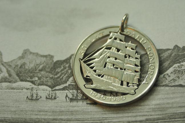Münzsägewerk Katrin Thull   Polen - Segelschiff