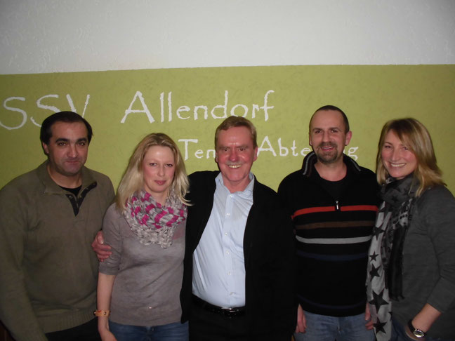 v.l. Manuel Carbonero, Anke Büse, Hermann Peters, Carsten Gierth und Nina Levermann