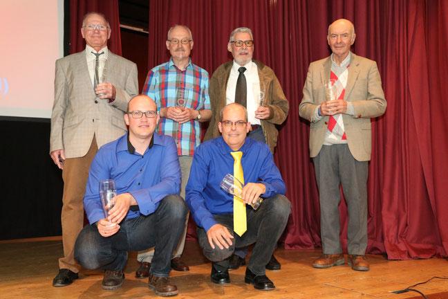 Alle Vorstände GSC Bodensee 1968 - 2019, Anton Port, Robert Raiber, Walter Riedesser, Hermann Metzger, Dieter Amann und Holger Nagel