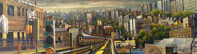"""""""View From the Burnside Station"""" Panel by Daniel Hauben"""