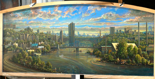 """View of the Harlem River Valley"" by Daniel Hauben"
