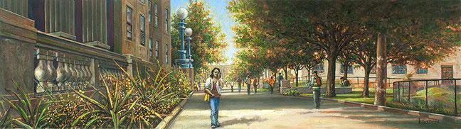 """BCC Path Facing West"" by Daniel Hauben"