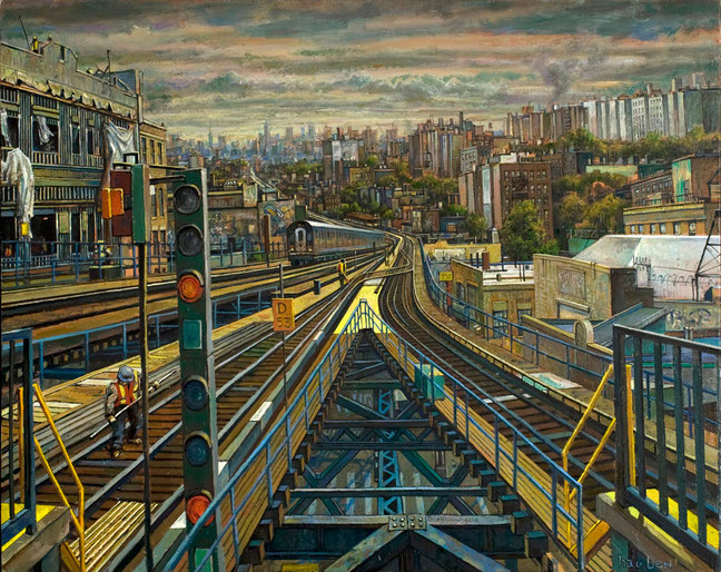 """View From the Burnside Station"" Full by Daniel Hauben"