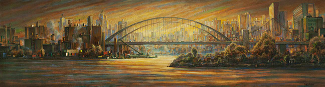"""Hell Gate Bridge"" by Daniel Hauben"
