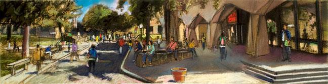 """BCC Meister Hall Pastel Study"" by Daniel Hauben"