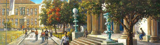 """BCC Gould Memorial Library Entrance"" by Daniel Hauben"