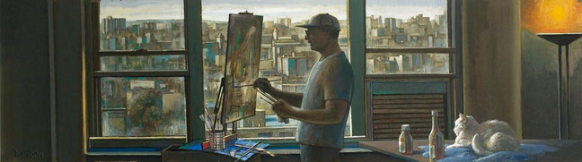 """The Artist Painting"" by Daniel Hauben"