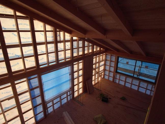 長野県 松本市 建築家 news設計室 丸山和男 在来工法 設計監理 住宅設計 薪ストーブ 猫と暮らす家