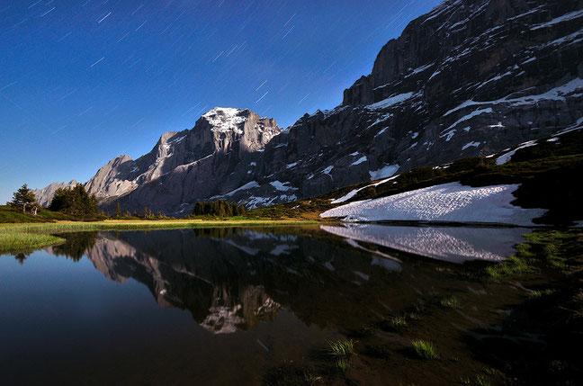 Star-Trails - Bergsee mit Blick zum Wellhorn