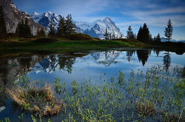 Bergsee mit Blick zum Eiger
