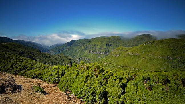Gesehen vom Hochplateau Paul da Serra - Ausgangspunkt zu den 25 Fontes (Levadawanderung)