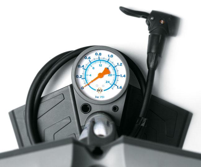 Für Fatbikes: Dicke Reifen erfordern nur geringen Luftdruck.