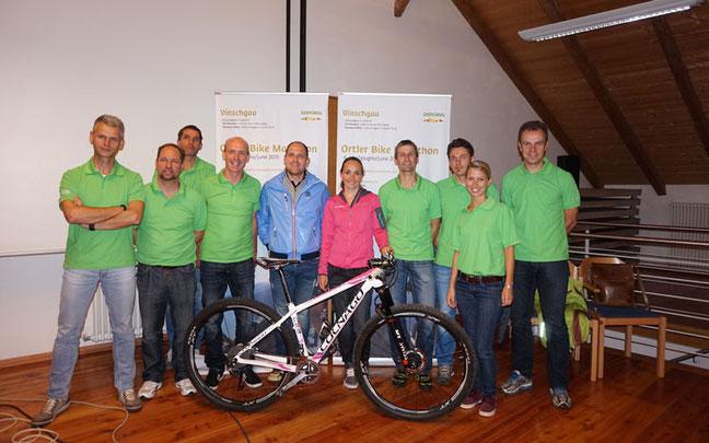 Präsentation des 1. Ortler-Bike-Marathon in Glurns mit Eva Lechner ©Vinschgau-Marketing