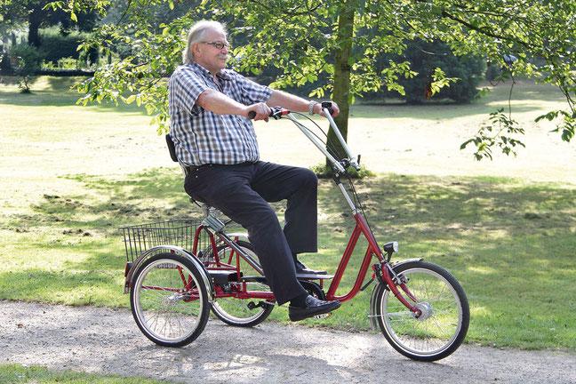Wulfhorst ist Spezialist für Seniorenräder. Und sagt das auch so. Im Bild: das Modell Lucky