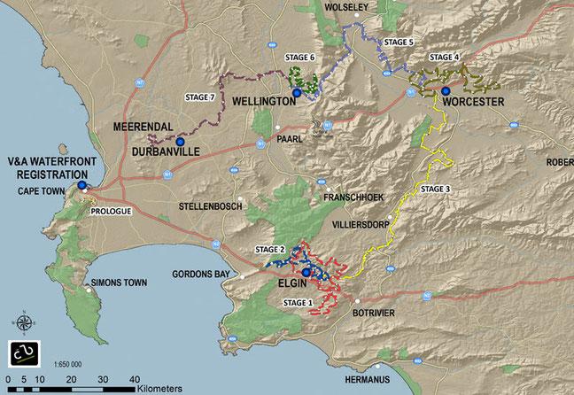 Absa Cape Epic 2015: Etappenplan
