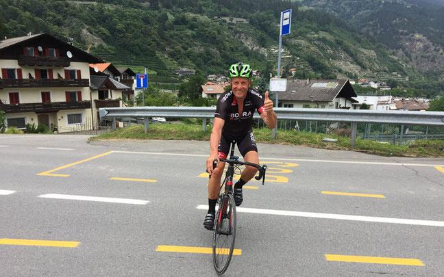"""Rennrad-Legende Didi Thurau in Südtirol unterwegs: """"Tolle Radwege und nette Menschen"""" © Martin Pirhofer/Hotel Jagdhof"""