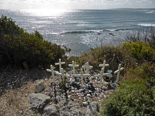 The Gracetown Tragedy Memorial above the surf break