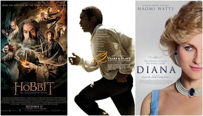 """""""El Hobbit: La Desolación de Smaug"""" y """"12 años de esclavitud"""" y """"Diana"""""""