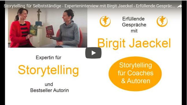 Storytelling für Selbstständige - Expertin Birgit Jaeckel im Interview