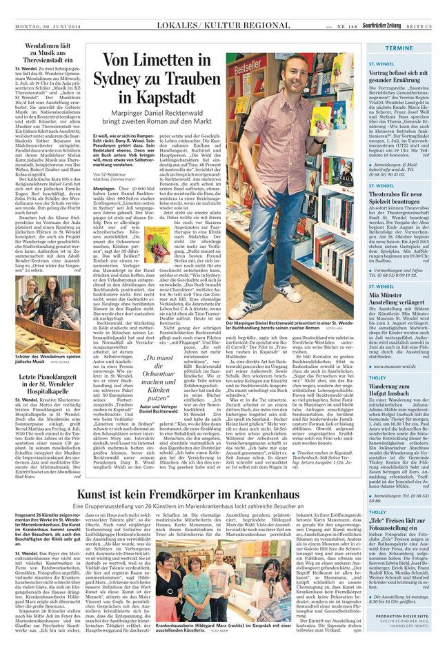 Saarbrücker Zeitung, 30.06.2014