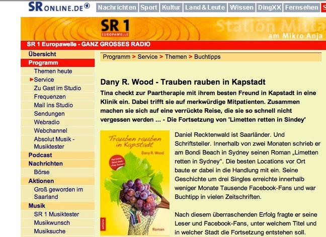 Buch-Tipp vom Saarländischen Rundfunk und Gast in zwei Radio-Sendungen