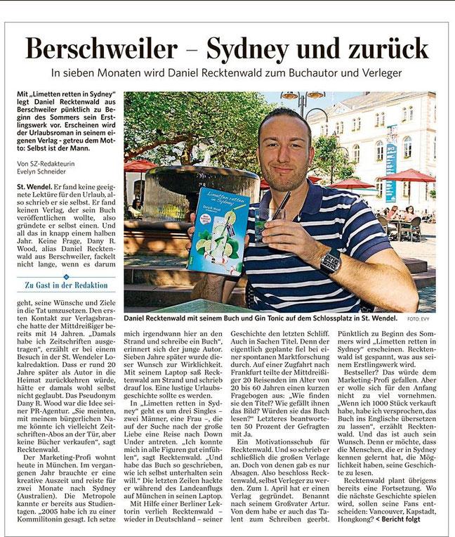 Saarbrücker Zeitung 07.06.2013