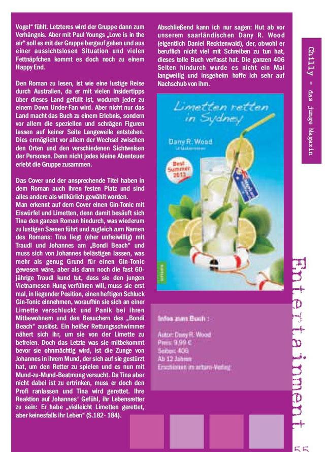 Chilly- das junge Magazin - Buchbesprechung