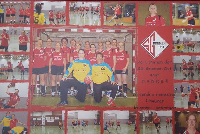 Trikotsponsoring der 2. Handbal Damen der SG Bremen-Ost
