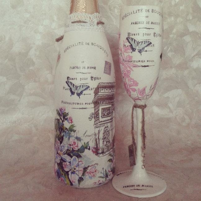 adornos con botellas para xv años