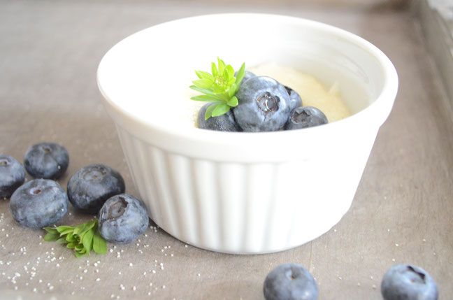 Der gute alte Grießpudding mit frischen Blaubeeren nach Omas Rezept - Sternschnuppe home & garden, Eichelhardt