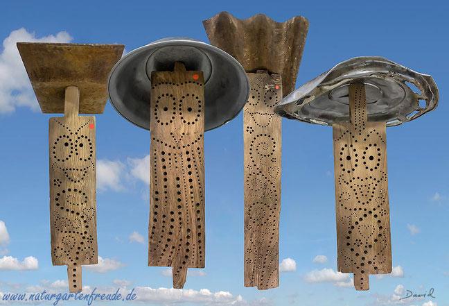 Wibinihi Wildbienennisthilfen Insektennisthilfen Insektenhotel Reinhard Molke Bau von Nisthilfen Eichenbalken Bohrungen im Hartholz insect nesting aid insect hotel  wildbee drilled hole hardwood oak wood